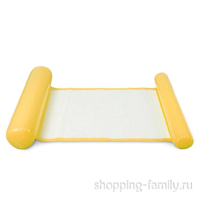 Надувной шезлонг для плавания Floating Bed, 130х73 см, желтый