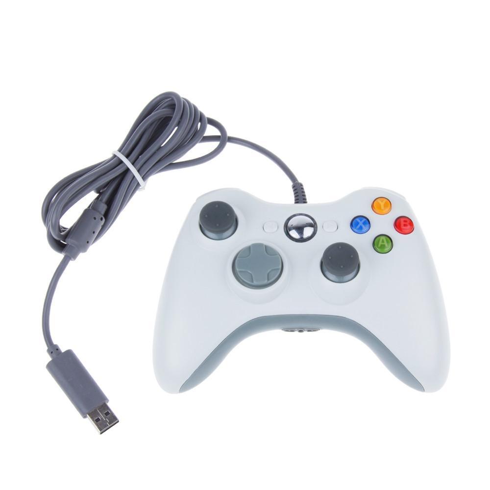 Джойстик проводной для Xbox 360 Controller White белый