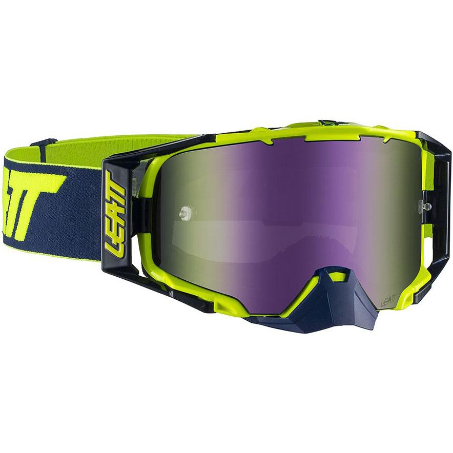 Leatt Velocity 6.5 Iriz Ink/Lime Purple 30%, очки для мотокросса и эндуро