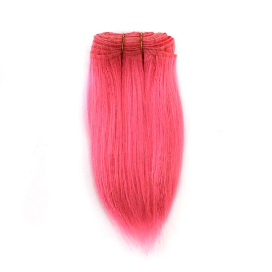 Тресс натуральный прямой (козочка) ярко-розовый