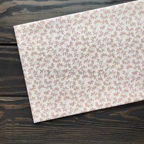 Ткань цветочки на персиковом фоне