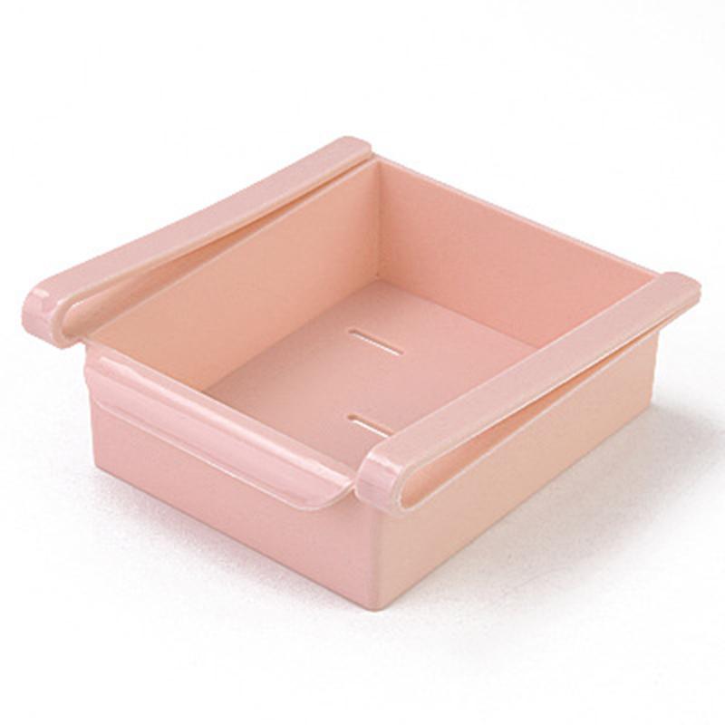 Органайзер для холодильника Refrigerator MULTIFUNCTIONAL STORAGE BOX, цвет розовый