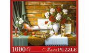 Masterpuzzle. ПАЗЛЫ 1000 элементов. ЦВЕТЫ И СКРИПКА (арт. АЛМП1000-6918)
