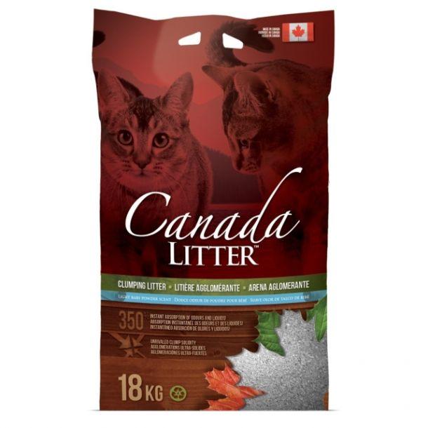 """Наполнитель Canada Litter Канадский комкующийся """"Запах на Замке"""" с ароматом детской присыпки, Scoopable Litter 18кг"""