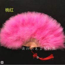 Веер пух большой розовый