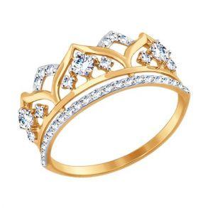 Кольцо из золота с фианитами SOKOLOV 017416 золото 585