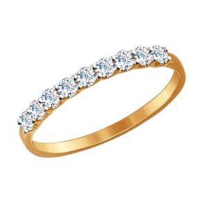 Кольцо из золота с фианитами SOKOLOV 017169 золото 585