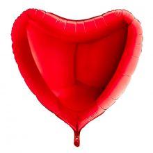 """Фигура """"Сердце"""", красный, 36""""/ 91 см, Италия"""