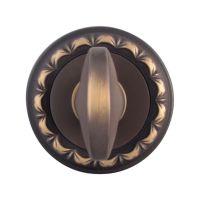 Накладка-фиксатор круглая Melodia 50 D WC. затемненная бронза