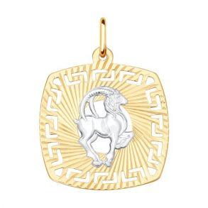 Подвеска «Знак зодиака Козерог» 031643 SOKOLOV золото 585