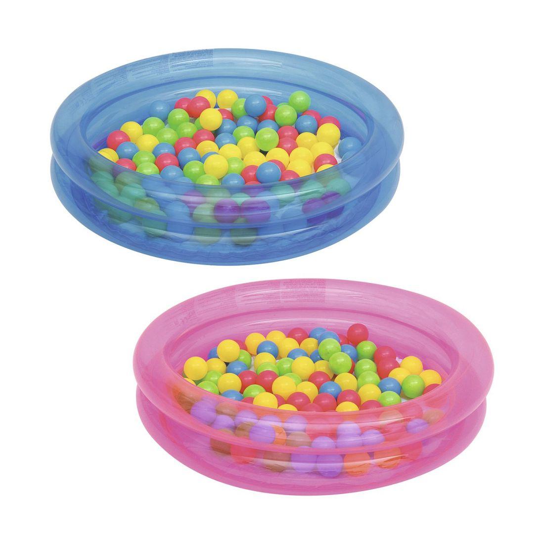 Бассейн с 50 шариками 91 х 20 см, 73 л. 2 цвета в ассортименте