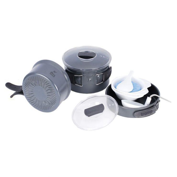 Набор посуды Tramp TRC-034 (анодированный алюминий)