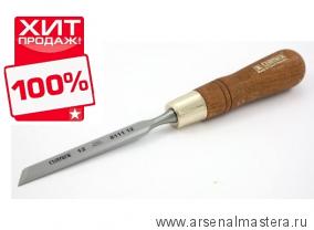 Стамеска косая правая с ручкой Wood Line Plus 12 мм Narex 811112 ХИТ!