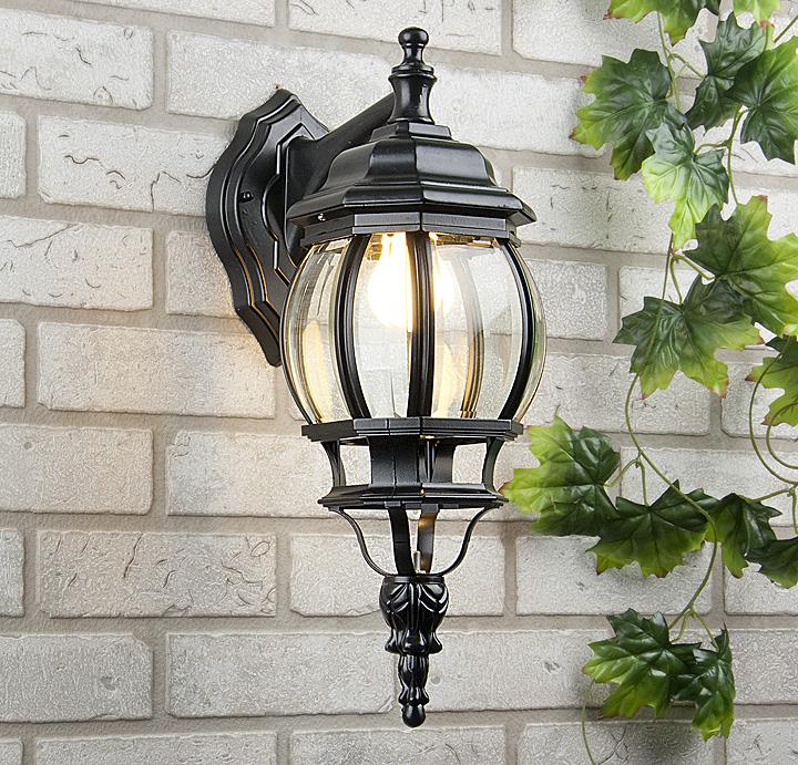 Уличный настенный светильник Elektrostandard GL 1001D черный