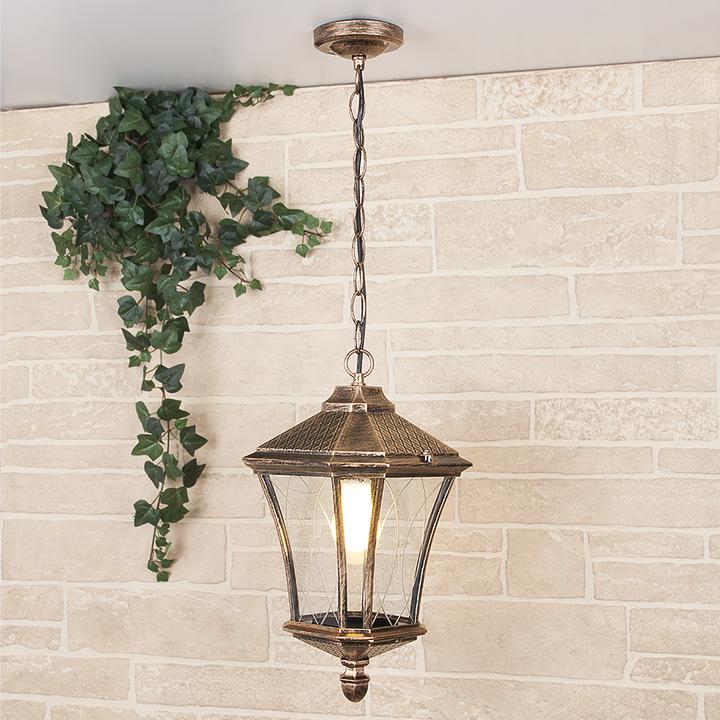 Уличный подвесной светильник Elektrostandard GLXT-1450H Virgo H черное золото