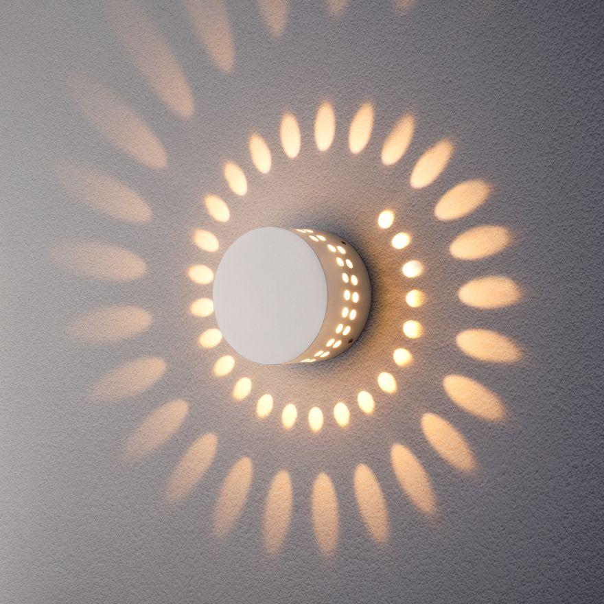 Уличный настенный светодиодный светильник Elektrostandard 1585 TECHNO LED ARKADA белый