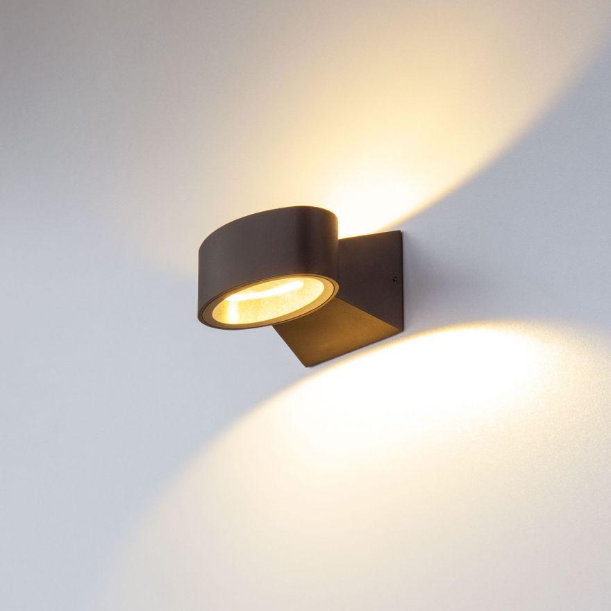 Уличный настенный светодиодный светильник Elektrostandard 1549 TECHNO LED BLINC черный