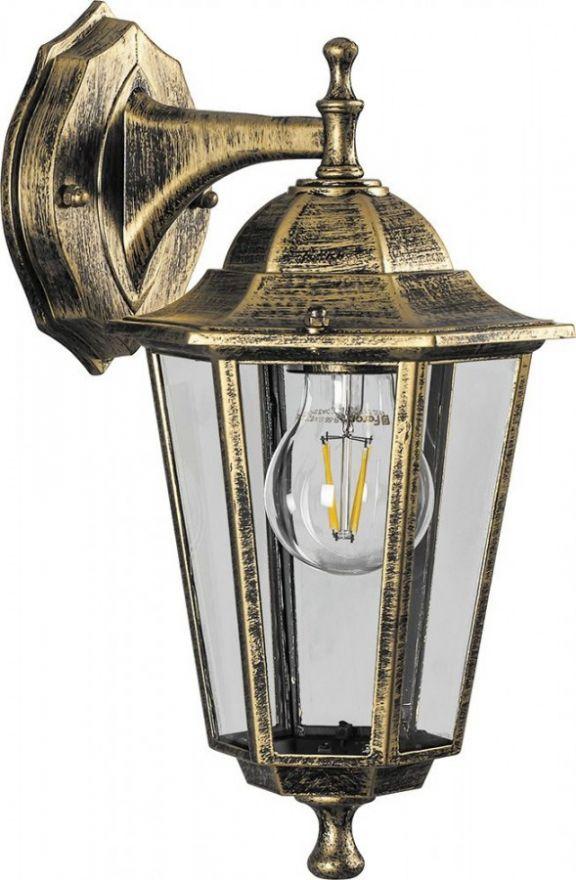 Светильник садово-парковый Feron 6202 шестигранный на стену вниз