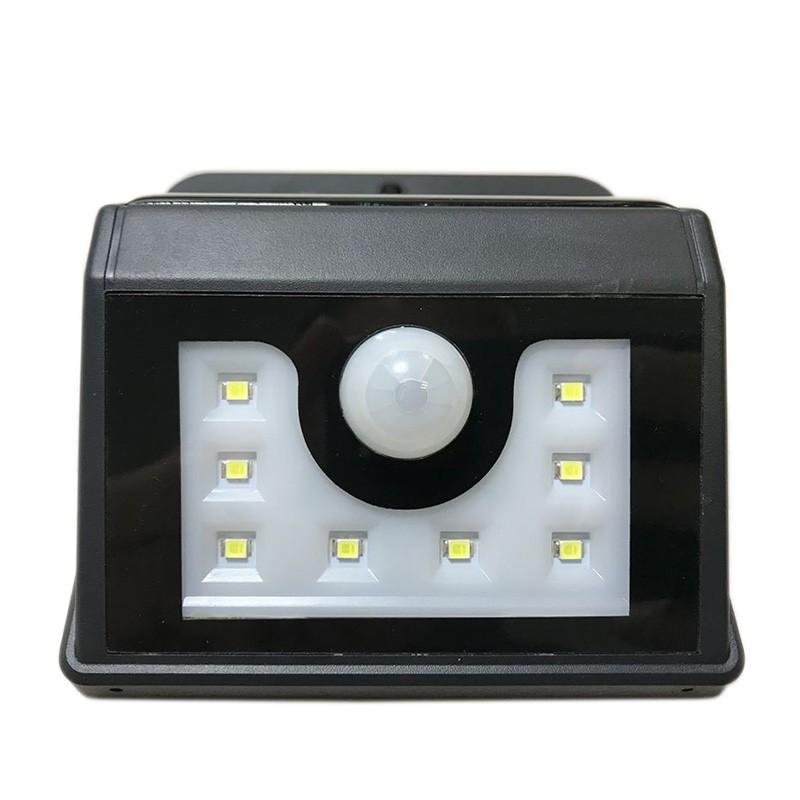 Светильник светодиодный, настенный на солнечной батарее с датчиком движения и освещенности (фотореле), 8 LED LAMPER 602-210