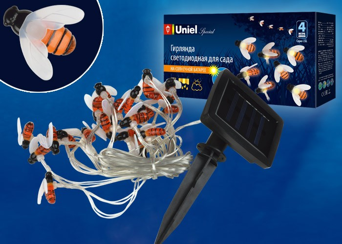 Садовая гирлянда на солнечной батарее Bees Uniel Special USL-S-127/PT4000 BEES