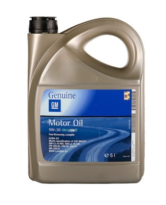Моторное масло GENERAL MOTORS Dexos2 Longlife 5W30 5 л
