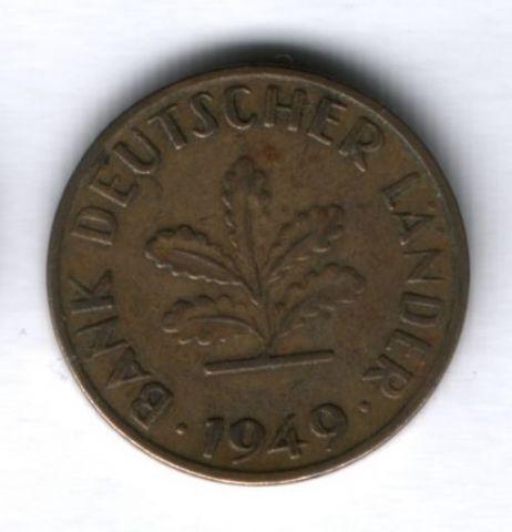 10 пфеннигов 1949 года J, ФРГ Германия