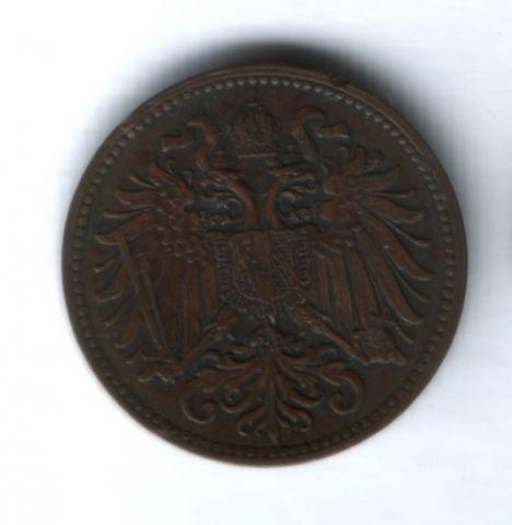 2 геллера 1895 года Австро-Венгрия XF