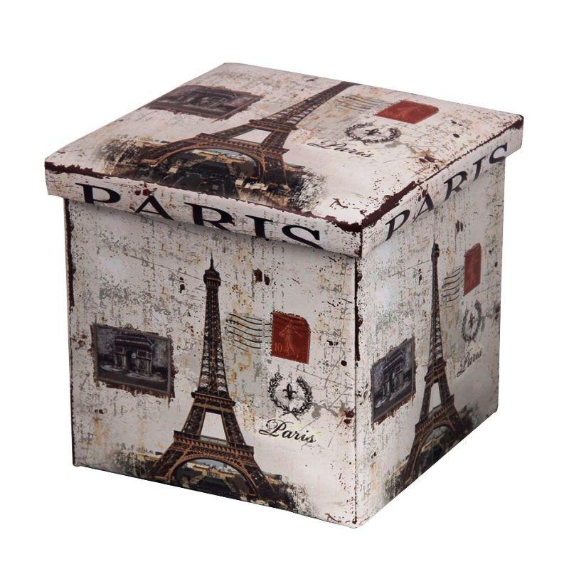 Короб-пуф для хранения Париж