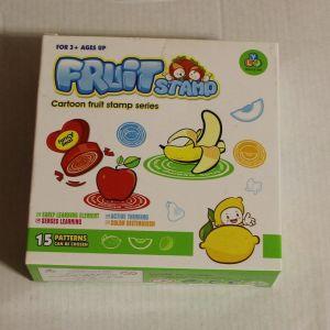 ! набор штампиков фрукты 15шт, ячейка: 12