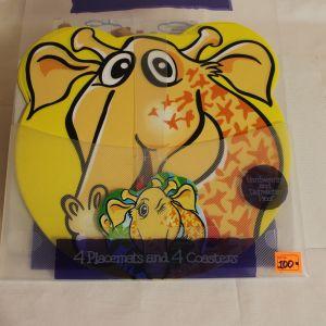 ! набор под горячее для тар и круж по 4шт слон желт, ячейка: 22