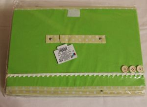 ! коробка под игрушки ткань зел, ячейка: 22