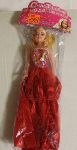 ! кукла крас платье 28см, ячейка: 33