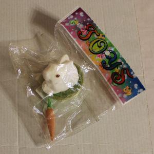 ! зайчик с морк в лукошке, ячейка: 57