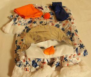 ! снеговик снежок р 128 комбинез шапка шарф варежки, ячейка: 95