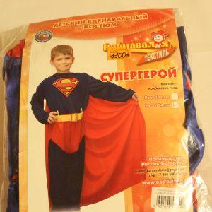 ! супергерой комбинез плащ р 134, ячейка: 95