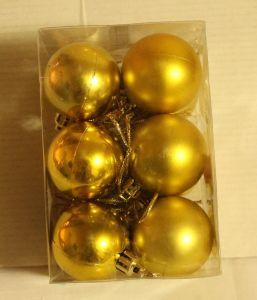 ! набор зол шаров мал 12шт, ячейка: 96
