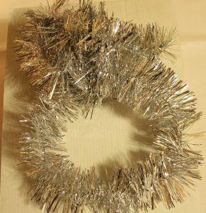 ! мишура 6.5см 150см сереб 1, ячейка: 97