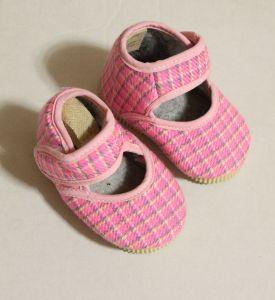 ! детс тапочки-туфельки роз клетка размер 105, ячейка: 141