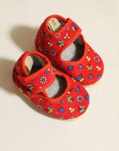 ! детс тапочки-туфельки крас размер 105, ячейка: 141