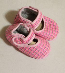 ! детс тапочки-туфельки роз клетка размер 120, ячейка: 141