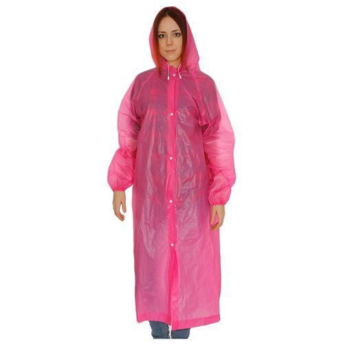 Виниловый плащ-дождевик для взрослых, розовый