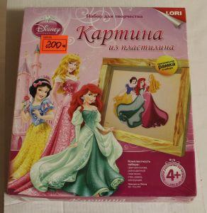 ! картина из пластилина принцессы, ячейка: 23