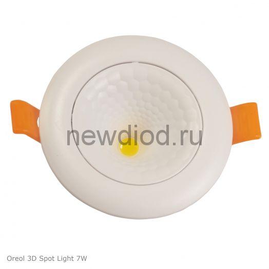 Светодиодная панель поворотная 3D Spotlight 7W-630Lm 70/90mm 4000K Oreol