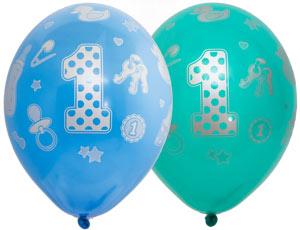 1 годик мальчику новый шар латексный с гелием