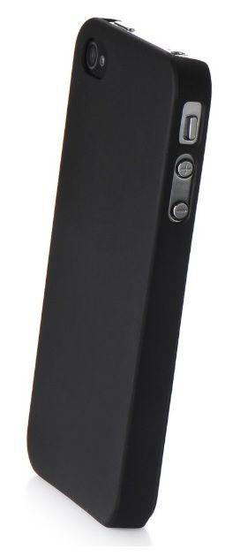 Чехол накладка iPhone 4/4S пластик Soft touch черный