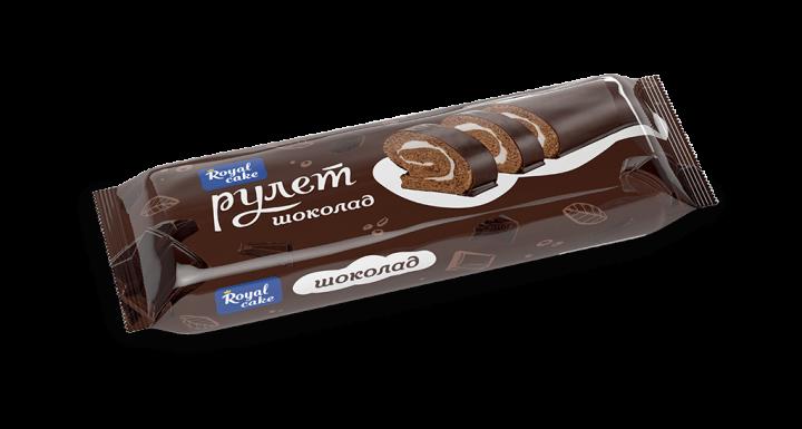 Рулет Роял Кейк глазир.шоколад 200г