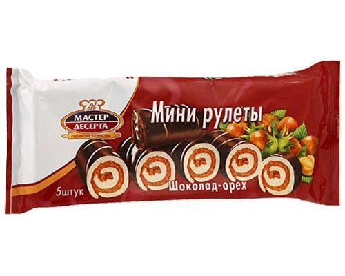 Мини-рулеты Мастер Десерта с кремовой шоколадно-ореховой начинкой 175г