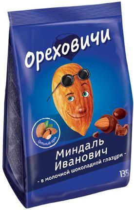 Драже Миндаль Иванович в мол.шок.глазури 135г