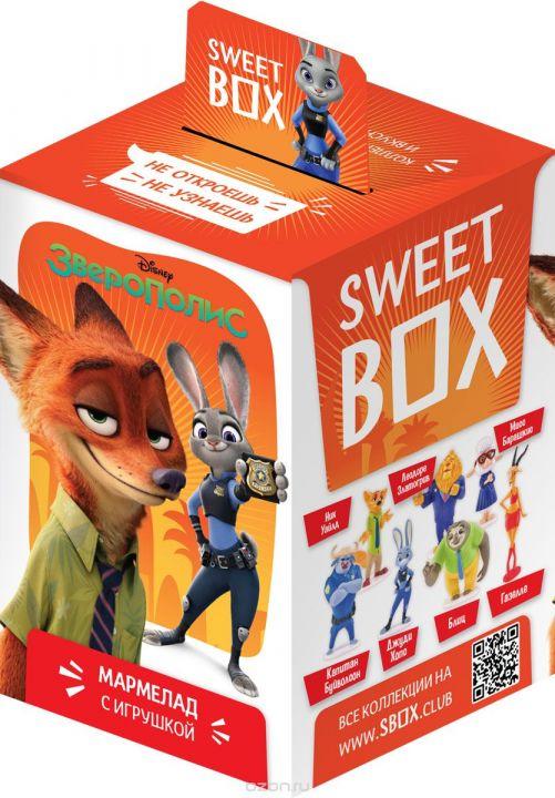 Мармелад с игрушкой SweetBox Зверополис 10г