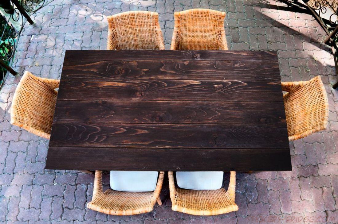 Наклейка на стол - Wood 4